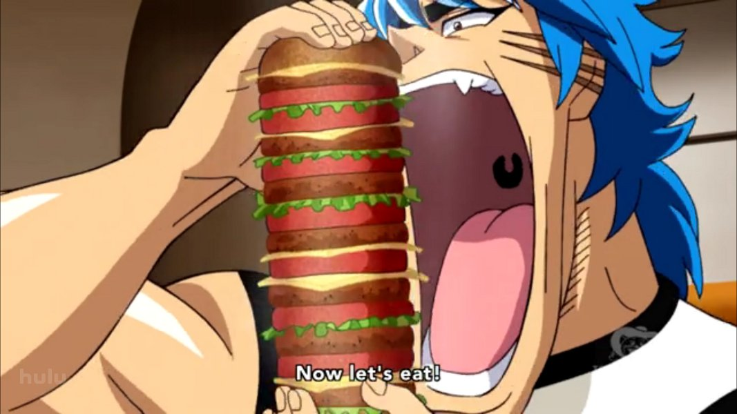 The world has entered the gourmet age      Follow Toriko  a gourmet    Toriko Food